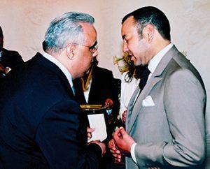 Aziz El Hajouji et le roi Mohamed VI Rafinity