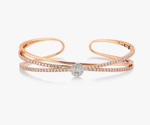 Bracelet en or rose et diamants