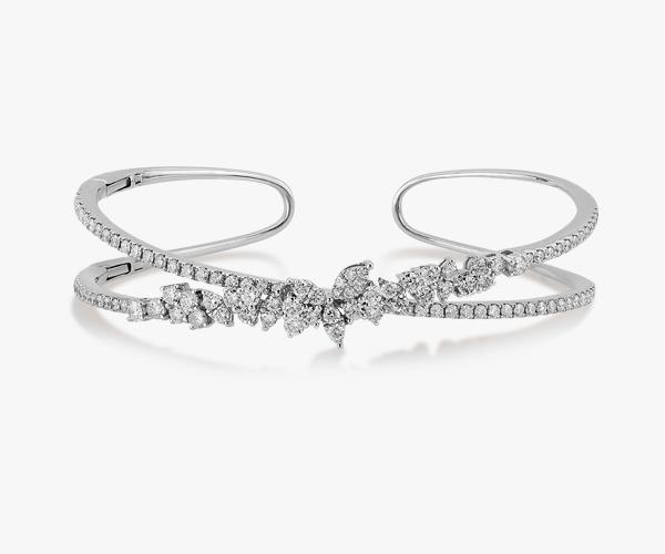 Bracelet en or blanc et diamants