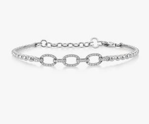 Bracelet-en-or-blanc-18K-constitué-de-billes-diamants