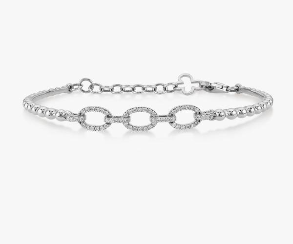 Bracelet-en-or-blanc-18K-constitué-de-billes-diamants