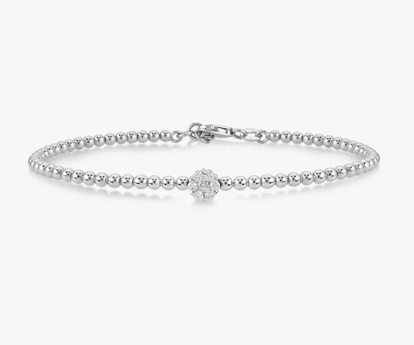 Bracelet en or blanc et diamants