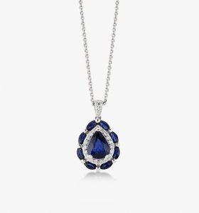 Collier-chic-et-sublime-en-or-blanc-18-K diamants