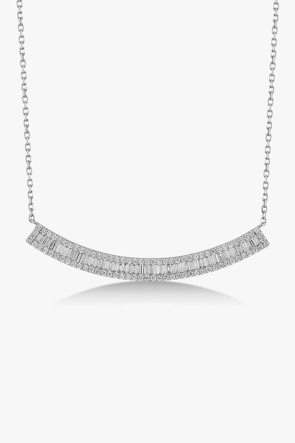 Collier en or blanc et diamants Rafinity