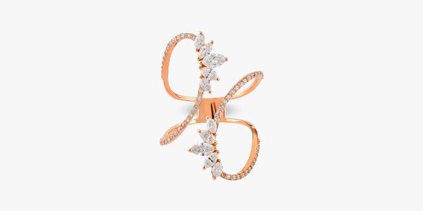 Bague-magistral-en-or-rose-18K diamants