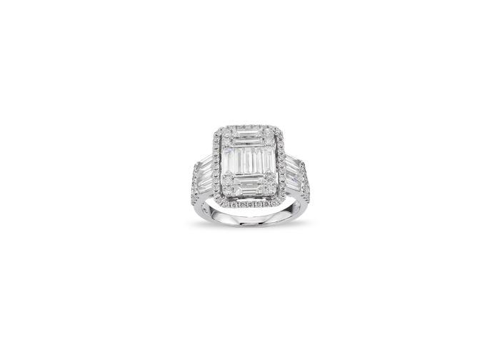 bague de mariage en or blanc et diamant