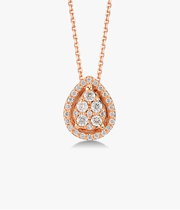 Necklace-in-gold-rose-18-K-with-a-piece-central-diamonds