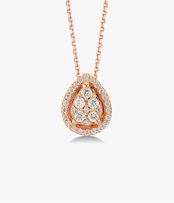 Collier-en-or-rose-18-K-avec-une-pièce-centrale-diamants