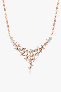 Collier-en-or-rose-18K-orné-d'un-pavé-diamants