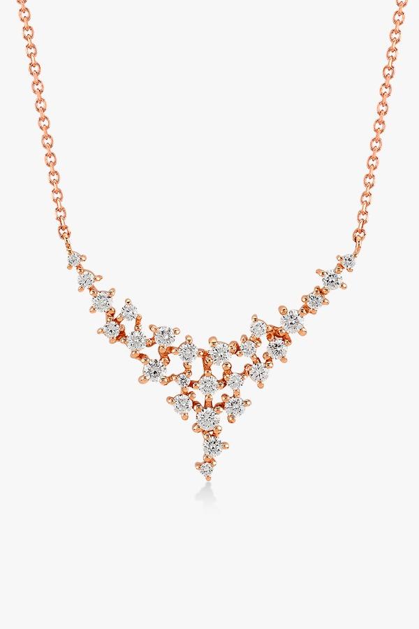 Collier-en-or-rose-18K-orné-d'un-pavé-diamants