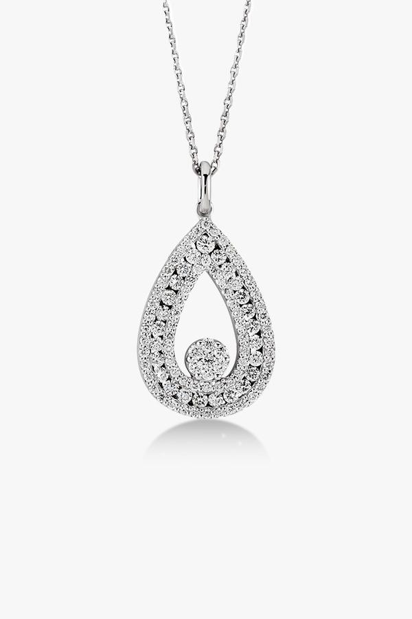 Collier-scintillant-en-or-blanc-18K diamants