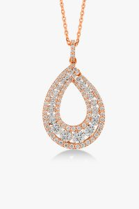 Collier-scintillant-en-or-rose-18K diamants