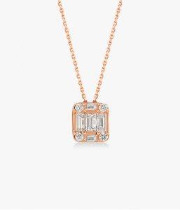 Collier-ultra-raffiné-en-or-rose-18K diamants