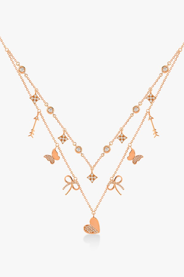 Collier en or rose et diamants Rafinity