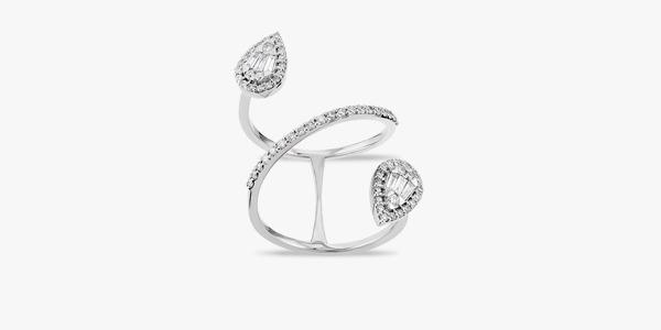 Bague en or blanc et diamants Rafinity