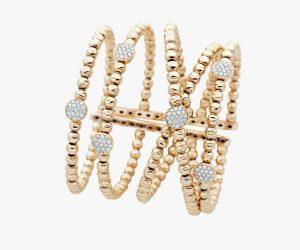 Manchette en or jaune et diamants Rafinity