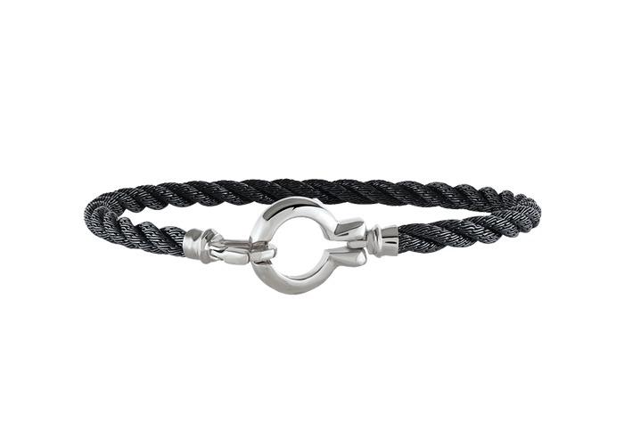 bracelet pour homme en or blanc