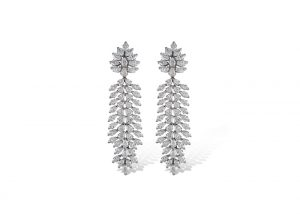 Boucles d'oreilles en or blanc et diamants