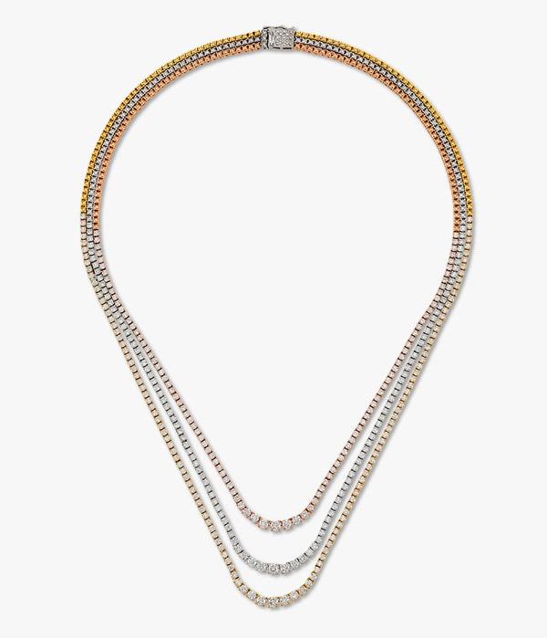collier-en-or-jaune,-blanc-et-rose diamants