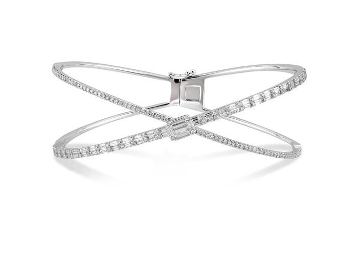 bracelet or blanc en diamant