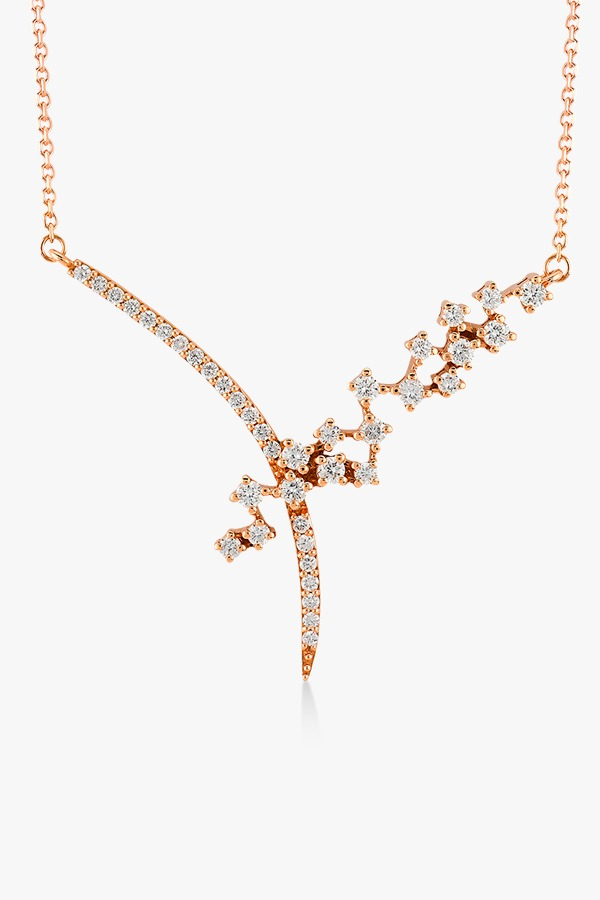 Collier en or rose et diamants Rafinity