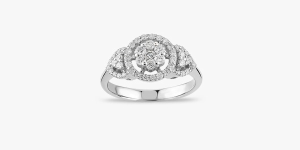 Bague en or blanc et diamants Rafinity