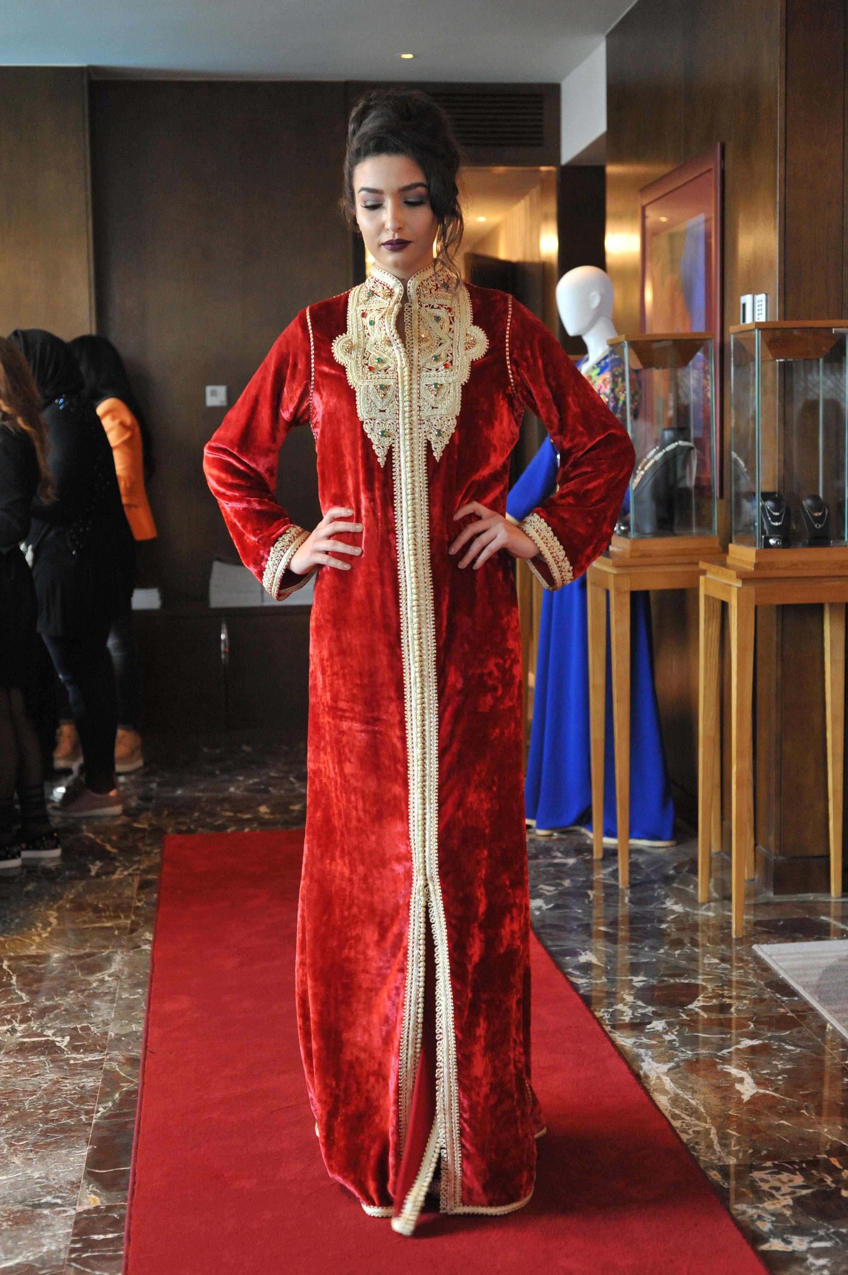 caftan velour Rafinity Haute couture