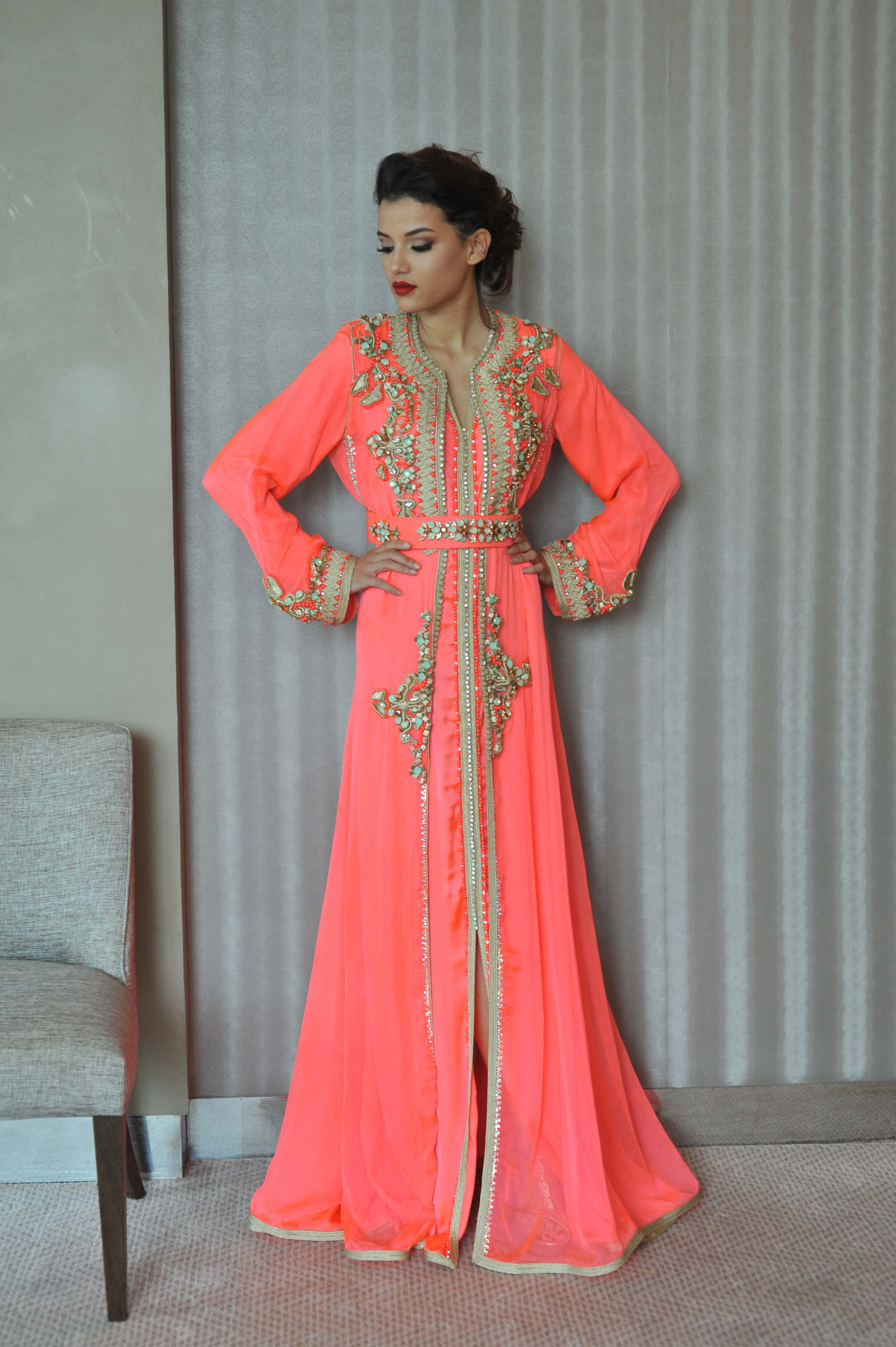 Caftan color flashy Rafinity haute couture