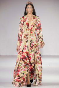 Caftan à motifs floraux Rafinity haute couture