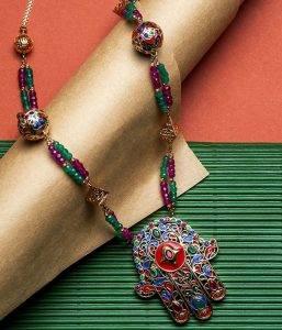 Collier Khmissa collection Gloria Bijoux traditionnels Rafinity